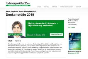 Denkanstoesse Vortrag Jockwer Moderation Koehler 2019