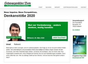 Denkanstoesse 2020-03 Vortrag Deuser Klaus-Jürgen Change Management
