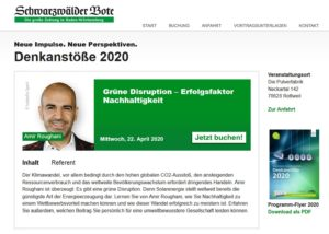 Denkanstoesse 2020-04 Vortrag Roughani Amir Nachhaltigkeit