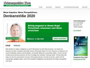 Denkanstoesse 2020-05 Vortrag Baschab Thomas Erfolg Mentalität