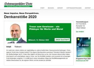 Denkanstoesse 2020-10 Vortrag Altun Erkan Konflikmanagement