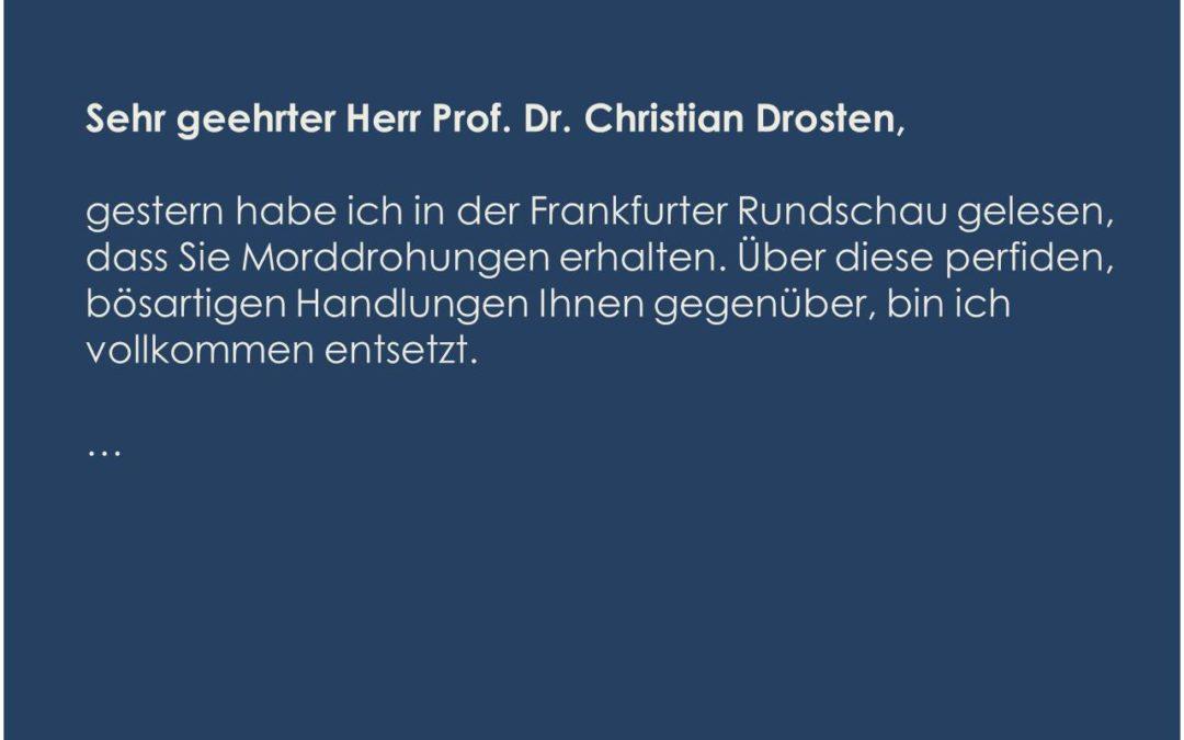 Öffentlicher Brief an Prof. Dr. Christian Drosten