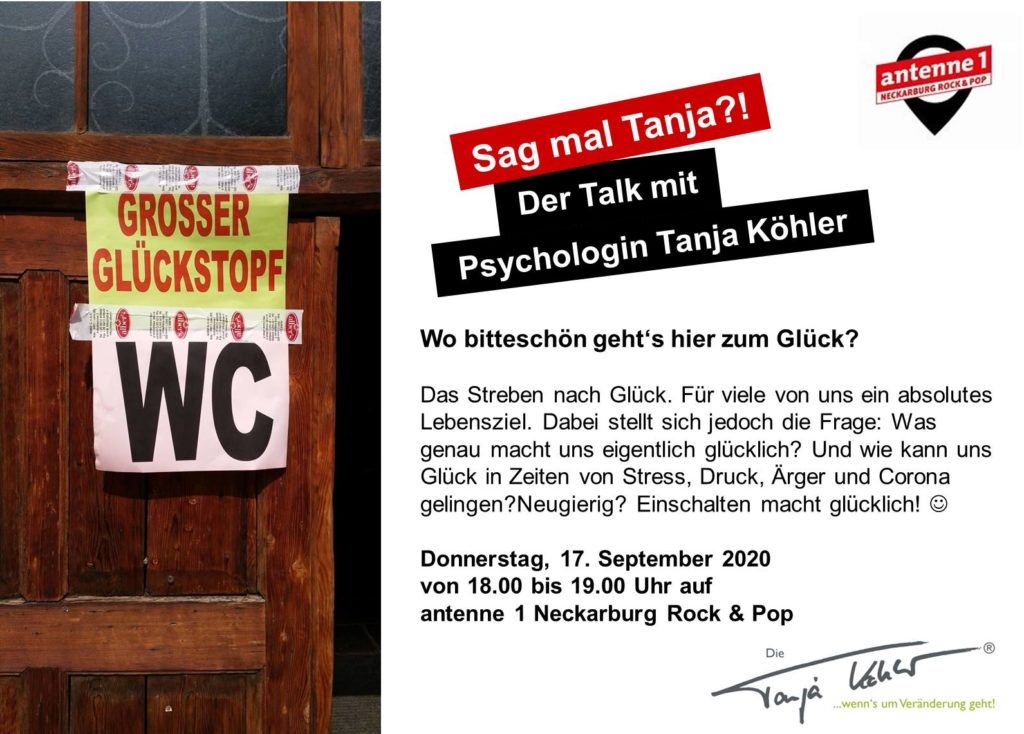 Radiopsychologin Tanja Köhler Wo geht es denn hier zum Glück
