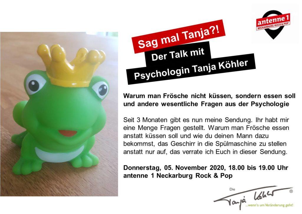 Radiopsychologin Tanja Köhler antenne 1 neckarburg Eat the frog first