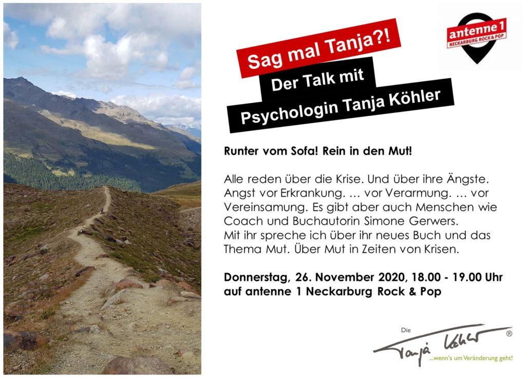 Radiopsychologin Tanja Köhler antenne 1 Neckarburg Mut Mutausbrüche