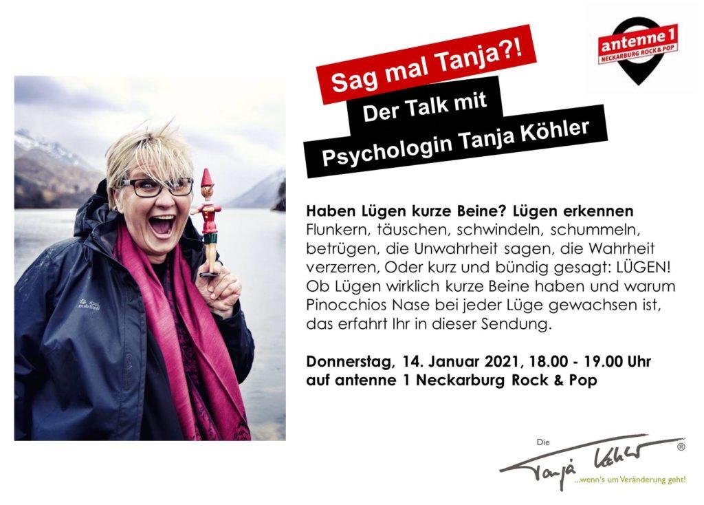 Radiopsychologin Tanja Köhler antenne 1 Neckarburg Lügen haben kurze Beine