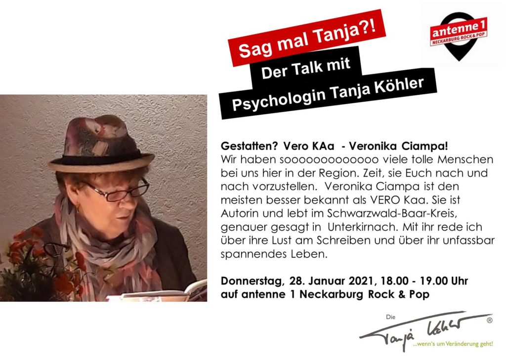 Radiopsychologin Tanja Köhler antenne 1 Neckarburg Vero Kaa